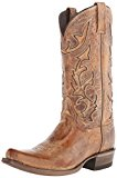 Stetson Men's Cracked Inlay Snip Toe Riding Boot