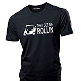 iClobber Golf T Shirt Golf Buggy They See Me Rollin Funny Mens T Shirt Mens T Shirt