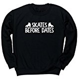 HippoWarehouse Skates Before Dates unisex jumper sweatshirt pullover