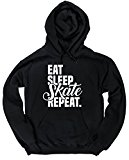 HippoWarehouse Eat Sleep Skate Repeat unisex Hoodie hooded top