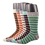 RioRiva Men Soft Pattern Striped Dress Formal Cotton Tube Calf socks Rich Work Wear Breathable