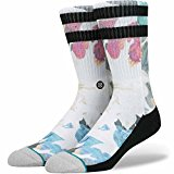 Stance Cabanna Socks - Men's Crew Length Skate Socks in White
