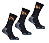 Mens Socks, Hardwearing & protective JCB work socks, 3 pairs, 6-11 UK, 39-45 EU,Heavy duty ribbed Socks
