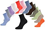 6, 9 or 12 pairs of Bamboo Socks for Men and Women in 13 colours white, black, brown, orange, blue, green, red, pink, olive, Comfortable and Super Soft, Made in  UE, Size UK 4-11 by Rainbow Socks