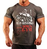 Mens Born in the Gym Bodybuilding Clothing T-Shirt