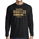 Long sleeve t shirt men Muscle works clothing - weightlift, for muscle growth masters, vintage design anytime fitness apparel