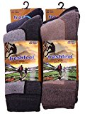 IMTD Mens 6prs Chunky Outdoor Warm Boot Hiking Inner Ski Socks Walking Trekking Work Wear Socks