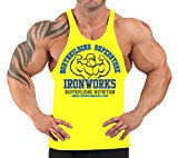 Mens Team Ironworks T-Back Vest Yellow H-88