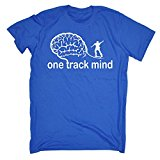 123t Men's One Track Mind Skate T-SHIRT Funny Christmas Casual Birthday Tee