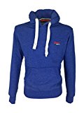 Superdry Mens Orange Label Hood Hoodie in Mazarine Blue Grit