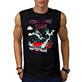 Bonus Stage Fight Karate Man Men NEW Black White Grey Red Navy S-2XL Sleeveless T-shirt | Wellcoda