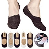 Wocharm Men's Cotton Rich InvIsible Loafer Boat Trainer No Show Casual Socks Non Slip SoleHugger Active Low Cut Shoe Liner Socks 10 Pairs