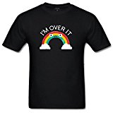 lcoup Men's Above Bored Funny O-Neck T-shirts