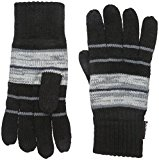Muk Luks Men's Men Glove- Black Stripe