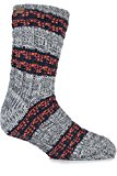 Urban Knit Mens 1 Pair Textured Twisted Yarn Chunky Slipper Socks