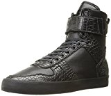Radii Vertex Mens Black Leather High Top Lace Up Trainers Shoes