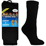 1 3 6 12 PAIRS MENS 2.3 TOG HEAT SOCKS BLACK THERMAL HOLDERTHICK HOT UK 6-11 / EU 39-45