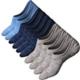 5Pairs Men No Show Socks Non Slip Athletic Cotton Ankle Crew Sock