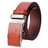Vbiger Men's Belts Genuine Cowhide Leather Belt with Automatic Buckle