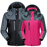 WALK-LEADER Mens Fur-Lined Thick Parka Mountain Climbing Soft Outdoor Coat Windproof Jacket