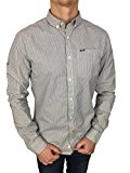 Superdry Mens L/S London Button Down Shirt in Twin Chalk Stripe Port