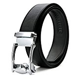 XIANGUO Men's Automatic Buckle Canvas Real Leather Belts Casual Waist Belts