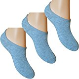 Mens Grey Super Soft Cotton Rich Summer Invisible Trainer Socks (3 Pair Multi Pack)