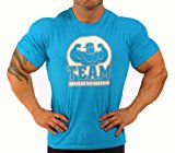 Mens Team Ironworks T-Shirt Royal Blue J-112
