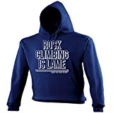 123t Unisex ROCK CLIMBING IS LAME - SAID NO ONE EVER Hooded Sweatshirt