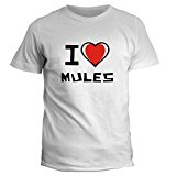 Idakoos I love Mule - Animals - T-Shirt