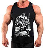 Mens Limited Edition Book of Pain Bodybuilding Vest Black K-129