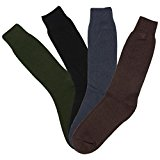 Men's 5 Pack Wool Novelty Fashion Warm Thick Thermal Winter Crew Quarter Socks