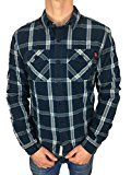 Superdry Mens Winter Washbasket L/S Shirt in Thunderbolt Navy Check