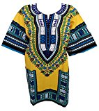 DASHIKI SHIRT Traditional Poncho Top African Style Dashiki Caftan One Size