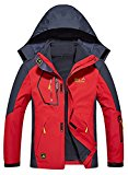 Men's Plus Size 3-in-1 Windproof Outerwear Soft Shell Waterproof Hooded Jacket
