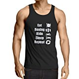 Vest Eat Boxing Ride Sleep Repeat - for fighters and riders motivational sports quotes
