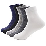 TANZKY Mens Socks 5 Pack Sports Crew Socks Cotton Socks