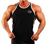 Mens Hardcore Body Building Vest Black / Grey H-85