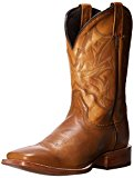 Stetson Men's Burnished Ficcini Square Toe Riding Boot, Tan, 10.5 EE US