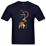 lcoup Men's Antler Fyt Prints O-Neck T-shirts