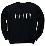 HippoWarehouse Ballet Positions Silhouettes unisex jumper sweatshirt pullover