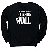 HippoWarehouse My Home is on the Climbing Wall unisex jumper sweatshirt pullover