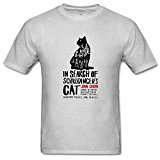 lcoup Men's in Search of Schrodinger's Cat Funny O-Neck T-shirts