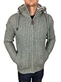 Superdry Mens Nordic Zip Through Hood in Cream/Grey/Charcoal Twist