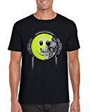 Acid House Retro Smiley Face Skull T-Shirt / TeesUK / Mens / Old School / Music / Clubbing / Techno / Raving / Rave / Holiday / Urban / Street / Art / Colourful / Artist / Illustration / Skeleton