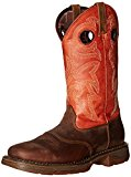 Durango Men's 12 Inch Western Workin Rebel Riding Boot, Brown/Orange, 10.5 M US