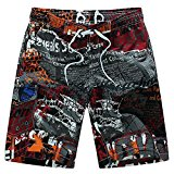 Men's Quick-drying Swim Trunks Alphabet Printing BoardShorts Summer Skate Surf Beach Shorts