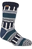 Urban Knit Mens 1 Pair Fair Isle Multi Textured Slipper Socks