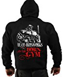 Mens Born in the Gym Bodybuilding Clothing Hoodie Workout Top G-69
