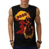 Boom Gas Mask Gamer Game Player Men NEW Black S-2XL Sleeveless T-shirt | Wellcoda